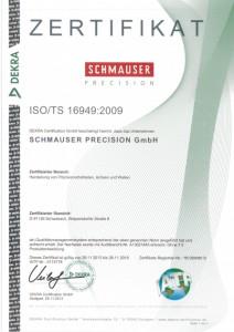 DEKRA Zertifikat ISO/TS 16949:2009